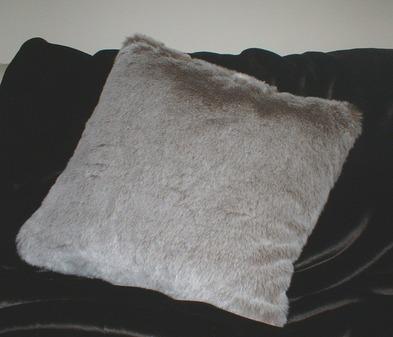 Koala Faux Fur Cushion 24 x 24 inch. 61 x 61 cm