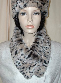 Wild Cat Faux Fur Long Collar