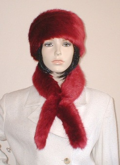 Ruby Red Faux Fur Slim Collar/Headband