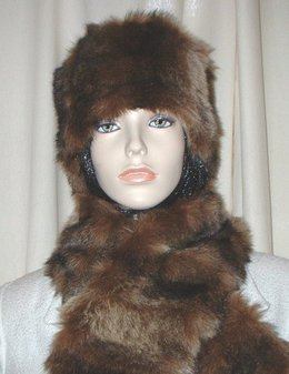 Russian Sable Faux Fur Hat Medium Size