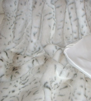 Lynx Baby Toddler Faux Fur Blanket