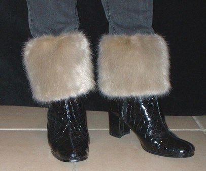 Honey Blonde Faux Fur Boot Toppers