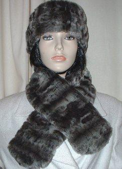 Vintage Silver Astra Faux Fur Neck Scarf