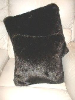 Mahogany Mink Faux Cushion  51 x 51 cm