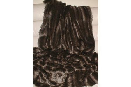 Rocky Mountain Faux Fur Heart Shaped Cushion
