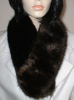 SALE Mahogany Mink Faux Fur Neck Scarf