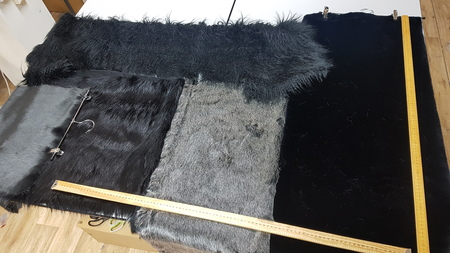 Faux Fur Pieces Per Meter: Blacks