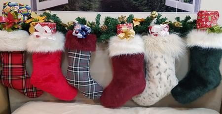 Xmas Faux Fur Christmas Stocking