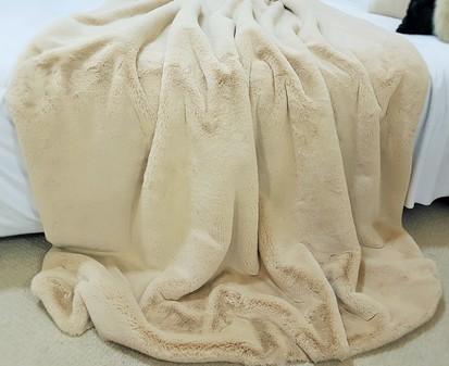 Almond Faux Fur Fabric