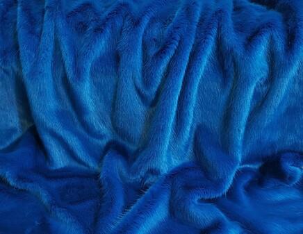 SECONDS Azure Blue Faux Fur Fabric Per Meter