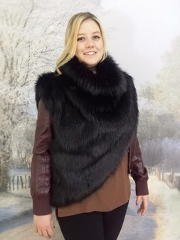Black Bear Faux Fur Huntress Cowl