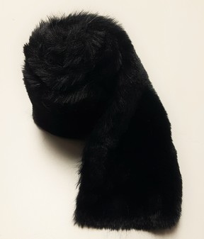 Black Moleskin Faux Fur Trims