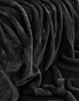 Black Softee Faux Fur Fabric