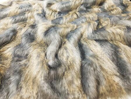 SECONDS Blue Ridge Mountain Faux Fur Fabric Per Meter