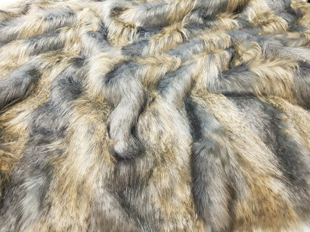 Blue Ridge Mountain Faux Fur Per Meter