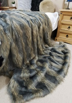 Blue Ridge Mountain Faux Fur Throws