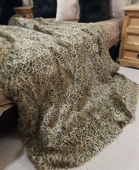 Cheetah Faux Fur Throws