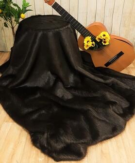 Mahogany Mink Faux Fur Fabric Per Meter