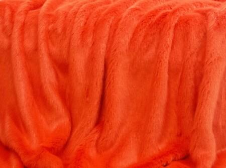 Coral Faux Fur per meter