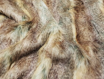 Desert Coyote Faux Fur Fabric Per Meter