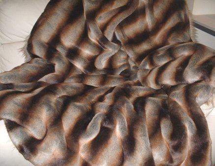 Golden Brown Chinchilla Faux Fur SECONDS Mega Sale