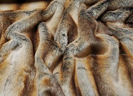 SALE Golden Brown Chinchilla Faux Fur Throws