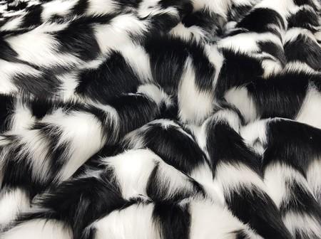 Tissavel Houndstooth Faux Fur Tote Handbag