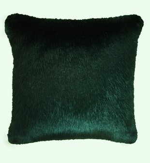 Hunter Green Faux Fur Cushions