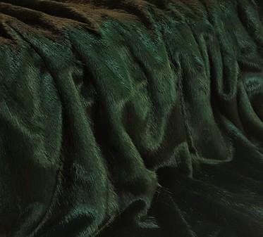 SECONDS Hunter Green Faux Fur Fabric Per Meter