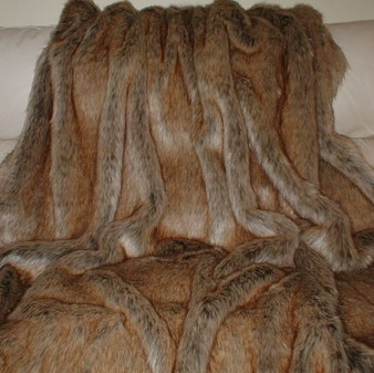 Husky Faux Fur Throw