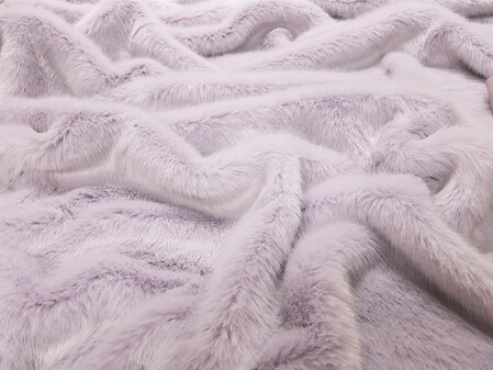 Tissavel Lavender Faux Fur Fabric SECONDS Per Meter