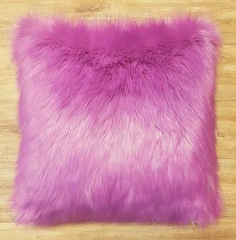 Lilac Mist Faux Fur Cushions