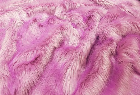 Lilac Mist Faux Fur Swatch