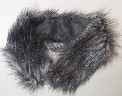 Siberian Wolf Faux Fur Neck Scarf