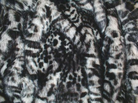 SALE Panther Faux Fur Throw with Black Cuddle Soft Velboa