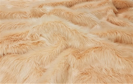 Peach Faux Fur Throw