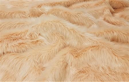 Peach Faux Fur Throw