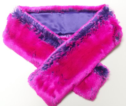 SALE Pink Panther Faux Fur Scarf