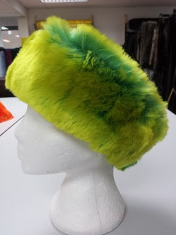 Pistachio Flash Faux Fur Headband