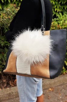 Polar Bear Faux Fur Giant Pom Pom