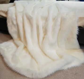 SALE Polar Bear Faux Fur Throws