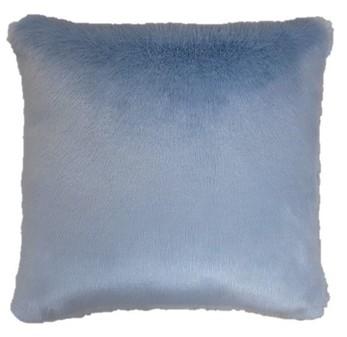 Powder Blue Faux Fur Cushions