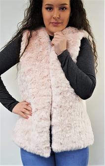 Tissavel Raspberry Ripple Faux Fur Gilet