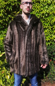 Mens Rocky Mountain Faux Fur Jacket