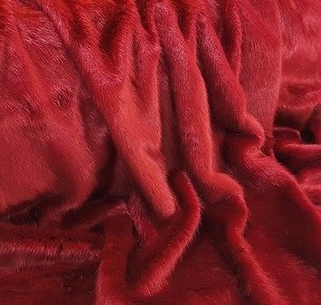 Ruby Red Faux Fur Massage Mitt