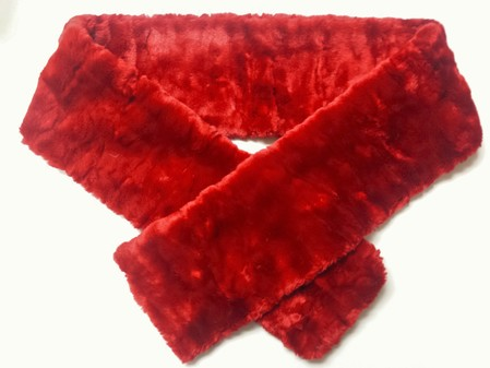 SALE Scarlet Crush Faux Fur Scarf