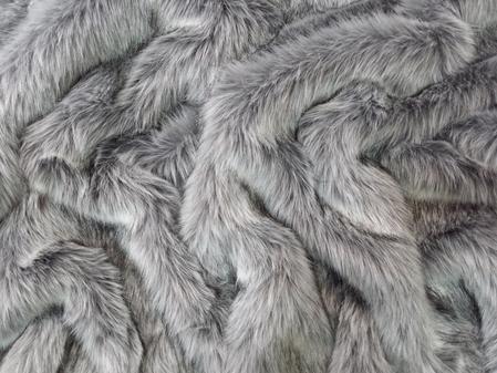 SECONDS Silver Musquash Faux Fur Fabric Per Meter