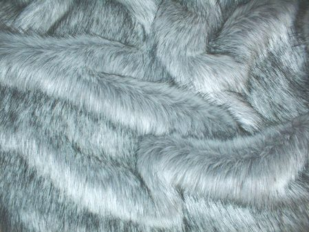 Silver Musquash Faux Fur SECONDS Per Meter