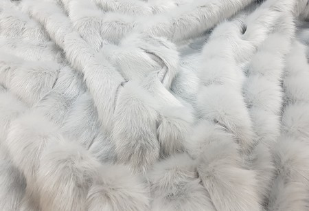 Silver Pelted Faux Fur Fabric