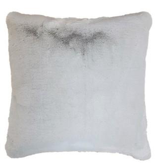 Silver Softee Faux Fur Cushions